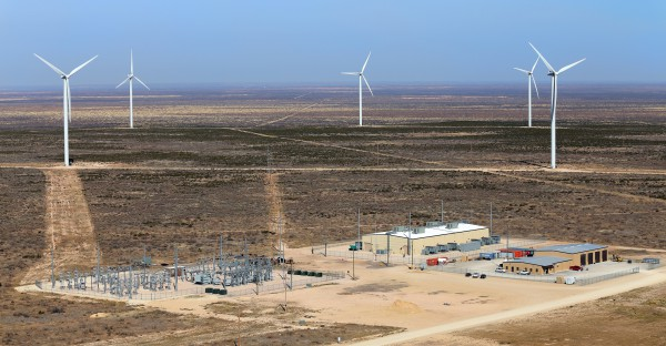 The Notrees Windpower farm in West Texas
